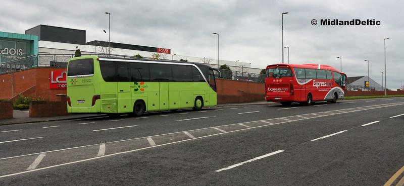 Dublin Coach 04-D-22822, Bus Éireann SP119, James Fintan Lawlor Ave Portlaoise, 17-04-2017