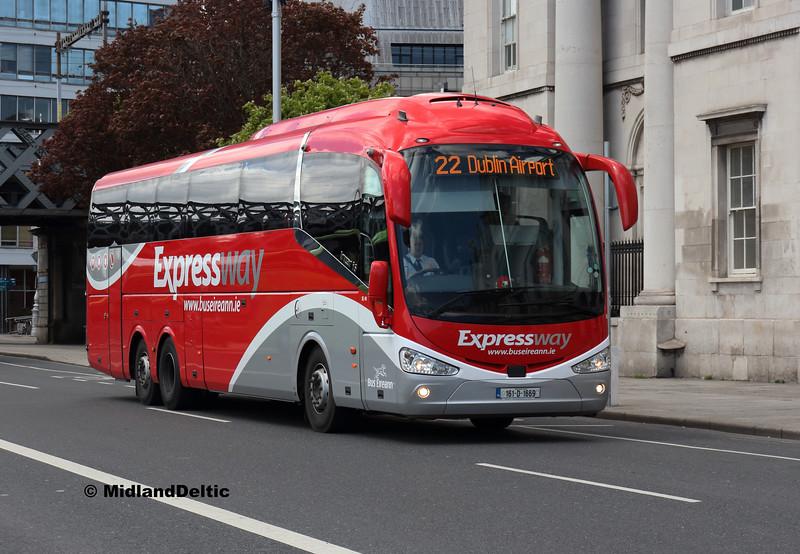 Bus Éireann SE49, Custom House Quay Dublin, 13-05-2018