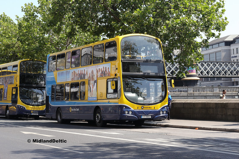 Dublin Bus GT62, Eden Quay Dublin, 14-07-2018
