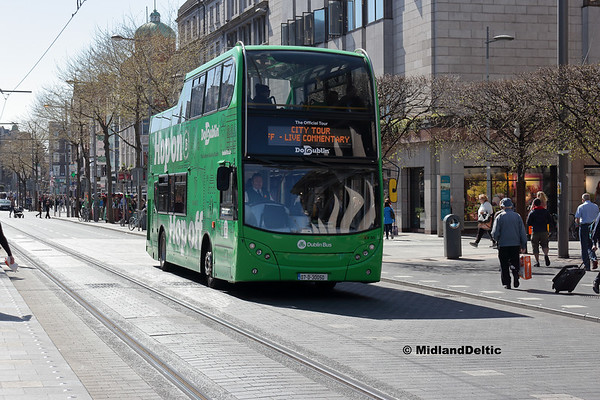 Dublin Bus EV50, O'Connell St Dublin, 21-04-2018