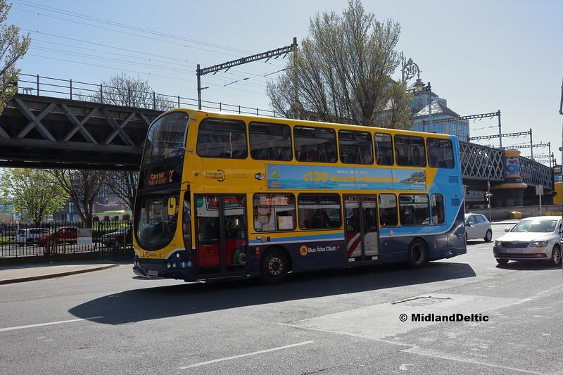 Dublin Bus GT119, Berresford Place Dublin, 21-04-2018