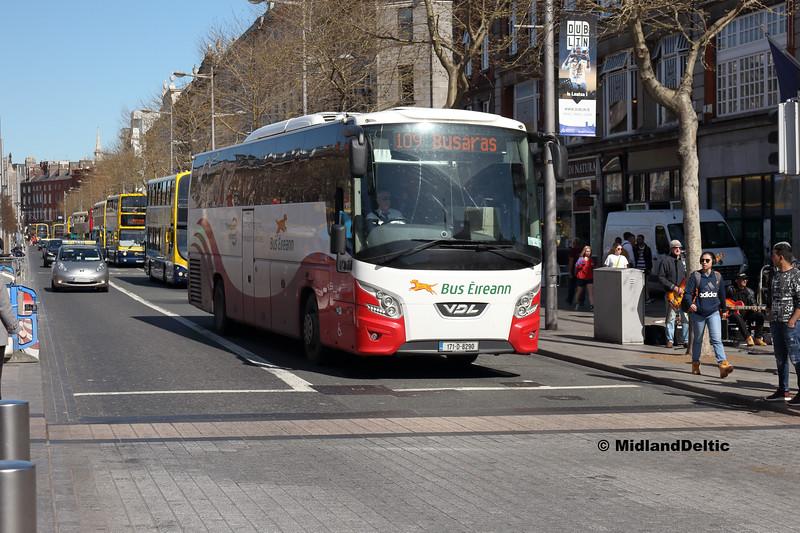 Bus Éireann LC308, O'Connell St Dublin, 21-04-2018