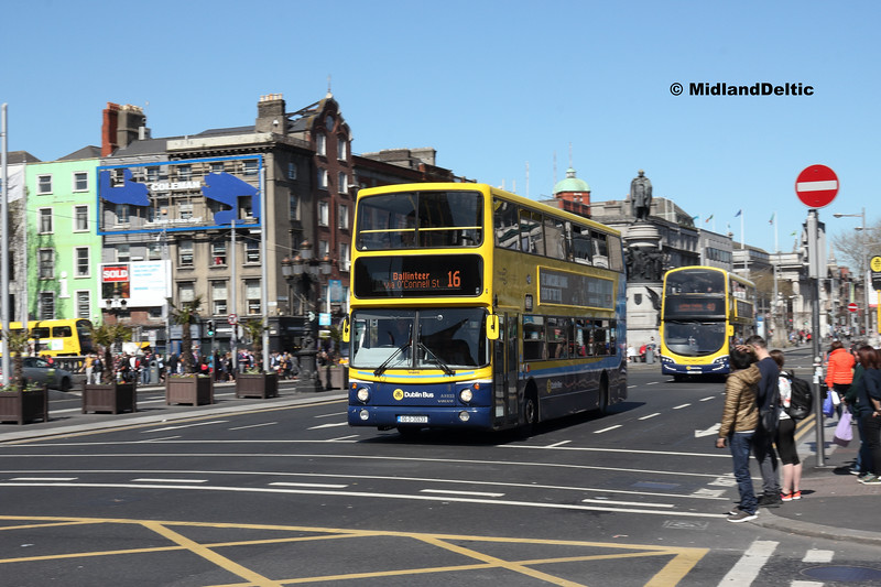 Dublin Bus AX633, O'Connell Bridge Dublin, 21-04-2018