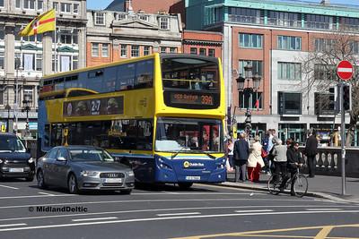 Dublin Bus VT65, O'Connell Bridge Dublin, 21-04-2018