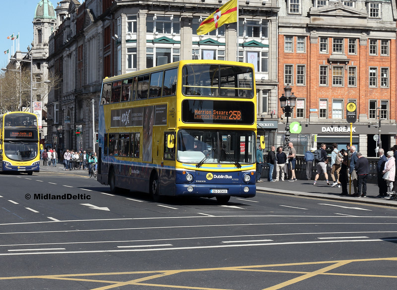 Dublin Bus AX459, O'Connell Bridge Dublin, 21-04-2018