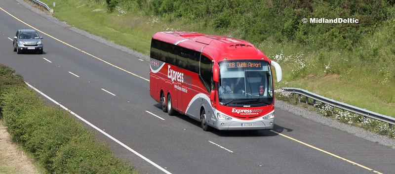 Bus Éireann SE21, M7 Portlaoise, 04-06-2018