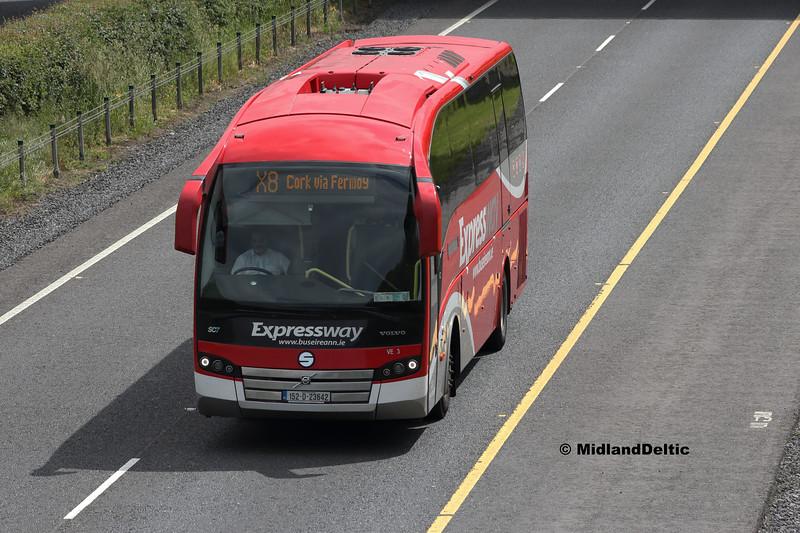 Bus Éireann VE3, M7 Portlaoise, 04-06-2018