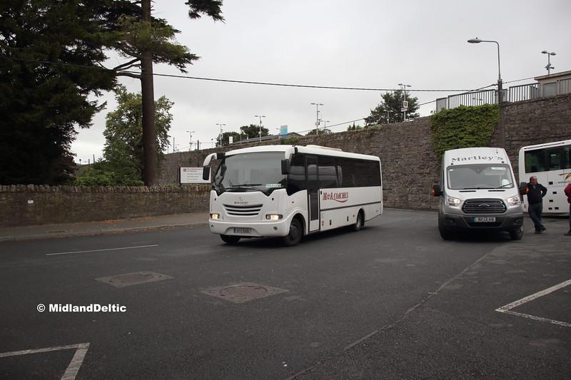 M&A Coaches 07-C-5506. Martleys 162-LS-618, Portlaoise Station, 01-09-2018