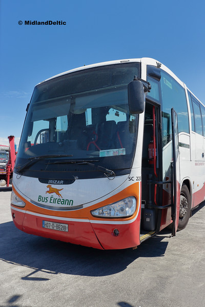 Bus Éireann SC223, Clonminam Industrial Estate Portlaoise, 26-06-2018