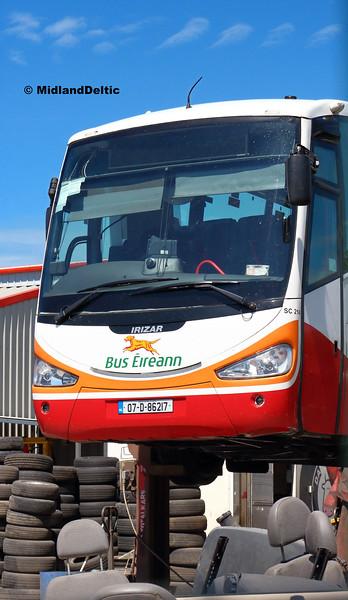 Bus Eireann SC214, Clonminam Industrial Estate Portlaoise, 26-06-2018