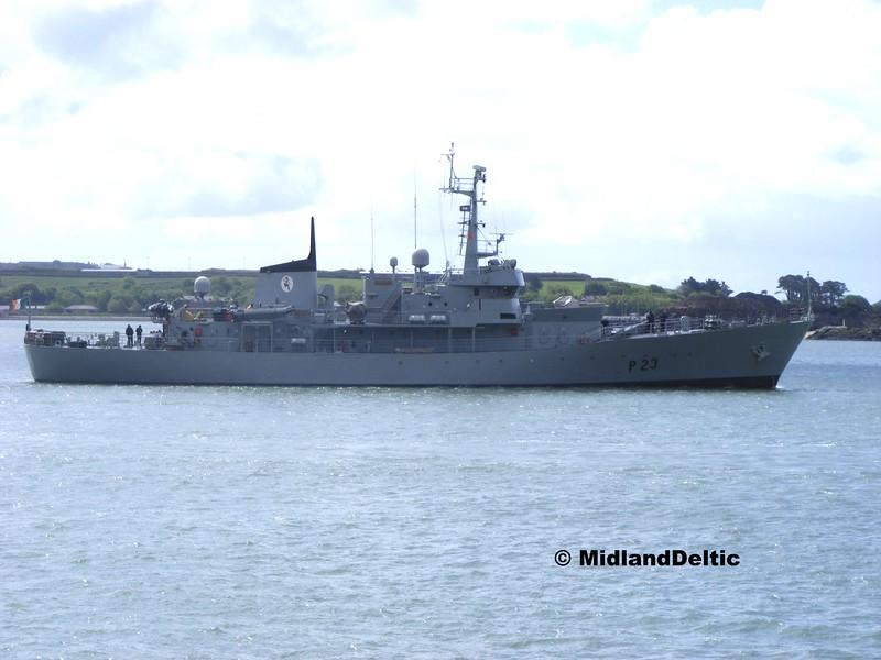 P23 LE Aisling, Cobh Harbour, 19-05-2015