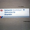 Station Sign, Shanklin, 21-01-1989