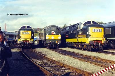 D9016, D5705, D9000, Leicester Depot, 06-09-92