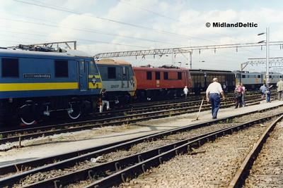90128, 90130, 90129, Basford Hall Yard, 21-08-1994