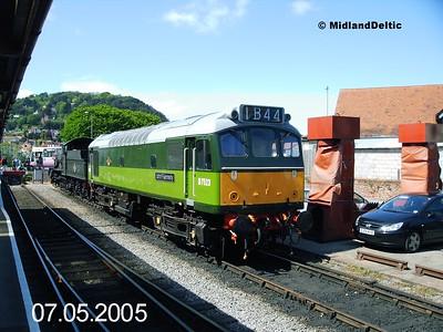 D7523, Minehead, 07-05-2005