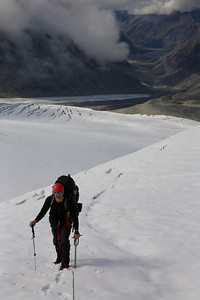 End running a slot on an unnamed glacier above the Lyman Fork of the Big River - Revelation Mountains, Alaska.