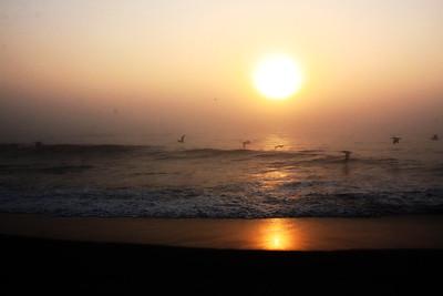 Sunrise, beach at Kill Devil Hills, 07/22/2011