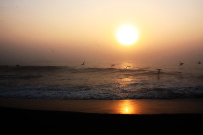 Sunrise, beach at Kill Devil Hills, 07/22/2011