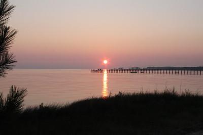 Sunset from Jockey's Ridge State Park, NC.