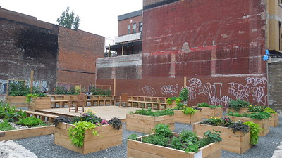 A community garden on Laurier