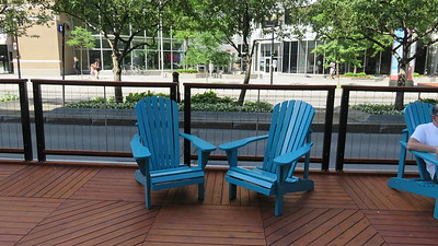 These chairs line the way on McGill College street