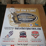 Poster for the 2016 Louisville Triple Crown of Running.