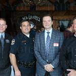 Lt. Aubrey Gregory, Lt. Tim Burkett, Fred Teale and Lt. Brian Bernardi.