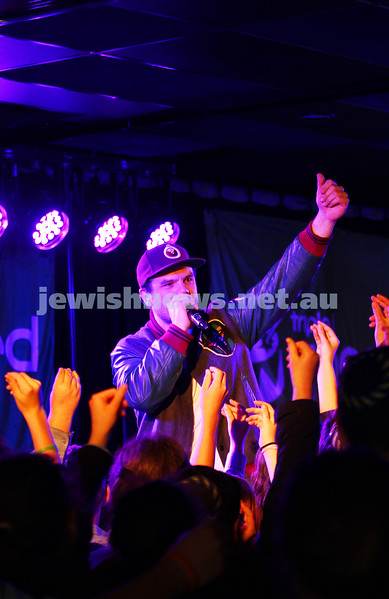 5-9-14. Gab Strum, aka  Japanese Wallpaper, Triple J's Unearthed High winner. Unearthed concert at Leibler Yavneh College which also featured hip hop artist Seth Sentry. Photo: Peter Haskin