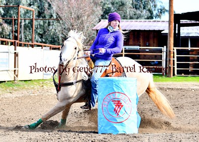Triple Seven New Years Barrel Race Diamond Bar Arena 1/1/19