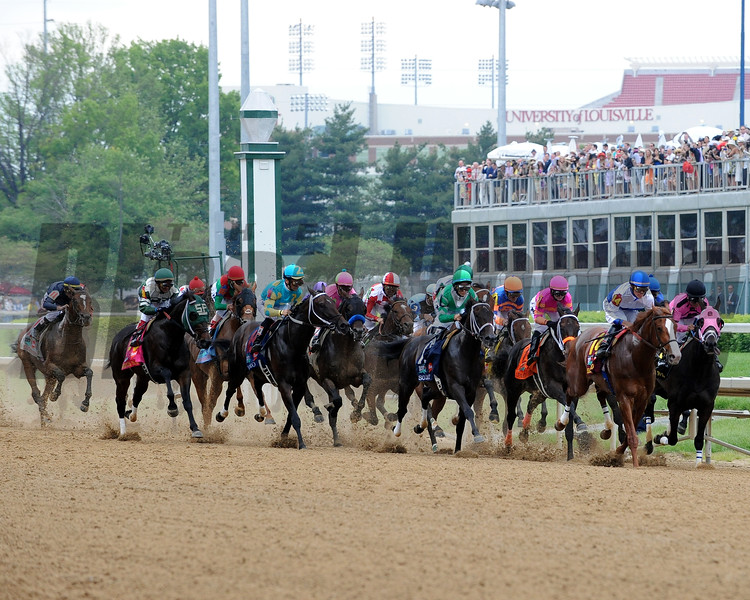 Shackleford leads the field early in the 2011 Kentucky Derby (won by Animal Kingdom)<br /> Dave W. Harmon