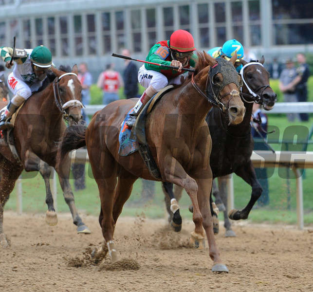Animal Kingdom ridden by jockey John Velazquez wins the 137th running of the Kentucky Derby at Churchill Downs in Louisville, KY May 7, 2011.  <br /> Photo by: Skip Dickstein