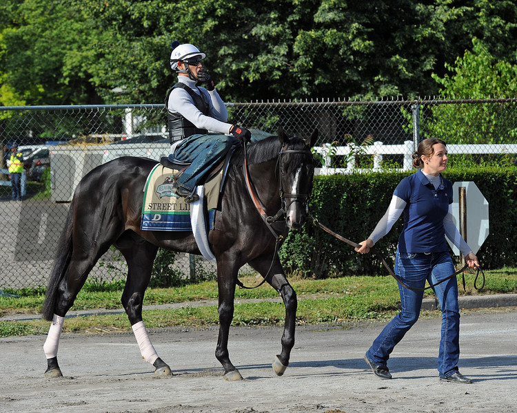 Street Life heads to the track Wednesday morning... <br /> © 2012 Rick Samuels/The Blood-Horse