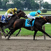 PAYNTER AND UNION RAGS HOOK UP AT THE 1/16 POLE<br /> Photo by Dave Harmon