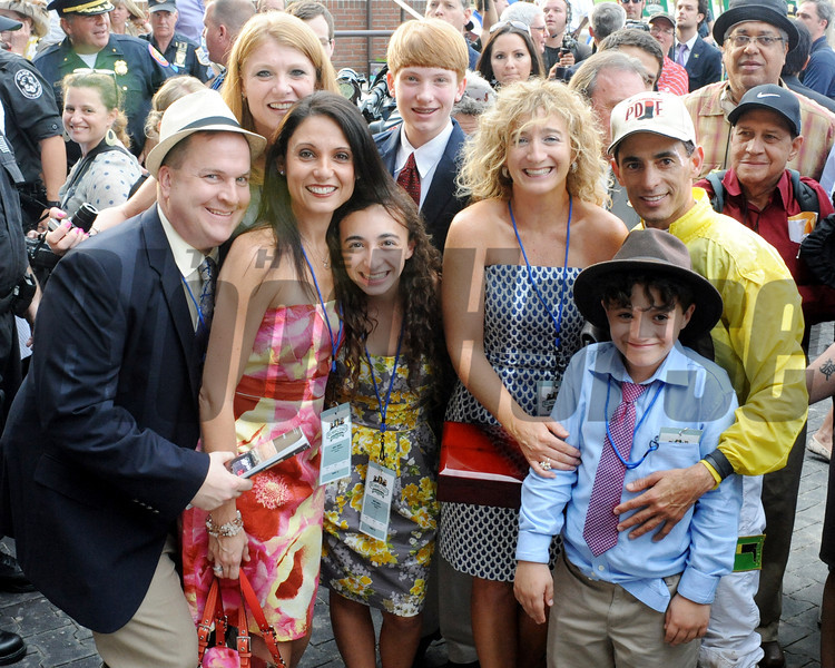 THE VELAZQUEZ CREW AFTER WINNING THE BELMONT STAKES<br /> Photo by Dave Harmon