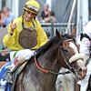 John Velazquez after winning the 144th Belmont Stakes on Union Rags...<br /> © 2012 Rick Samuels/The Blood-Horse