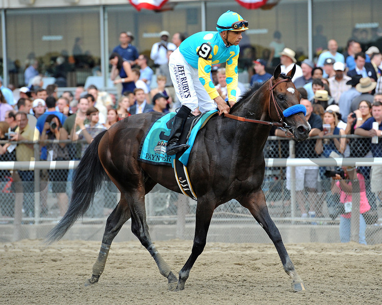 Belmont runner-up Paynter and jockey Mike Smith<br /> © 2012 Rick Samuels/The Blood-Horse