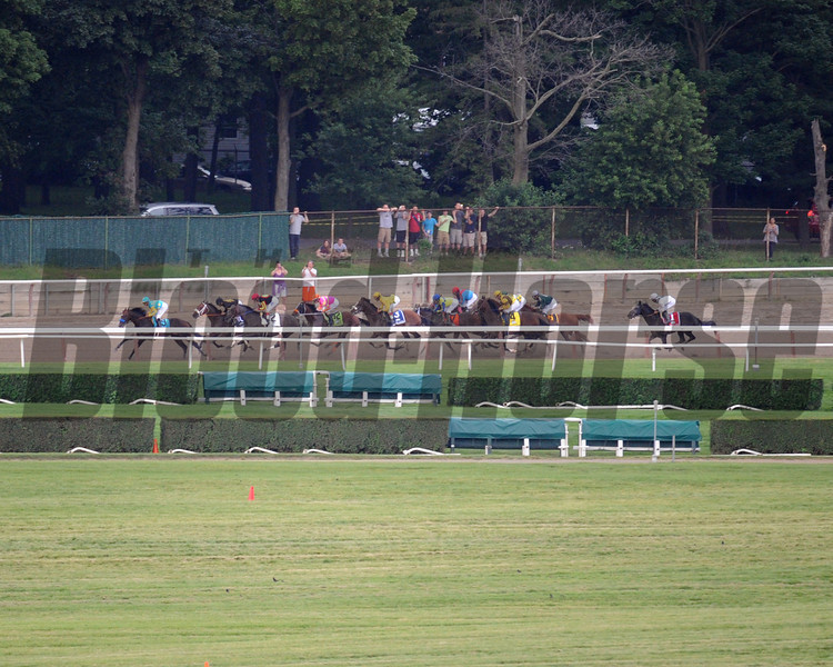 The field for the 144th Running of the Belmont Stakes on the backside at Belmont Park on June 9, 2012.<br /> Photo by Chad Harmon