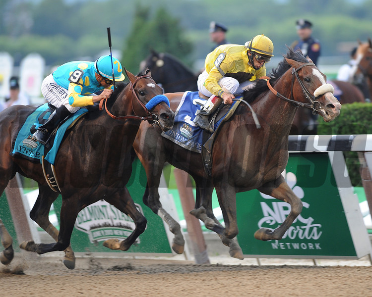Union Rags with John Velazquez up, wins the 144th Gr1 Belmont Stakes over Paynter...<br /> Photo by Adam Coglianese