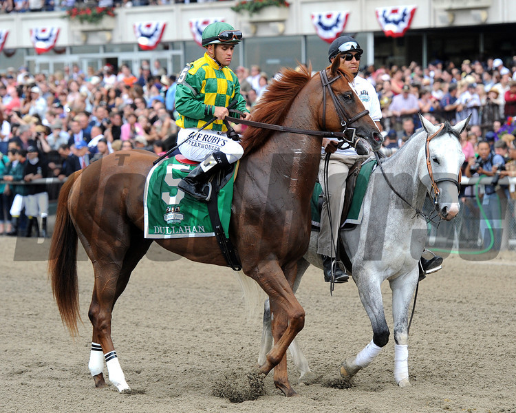 Dullahan in the Belmont post-parade...<br /> © 2012 Rick Samuels/The Blood-Horse
