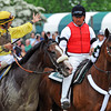 John Velazquez waves to the Belmont crowd, after winning the 144th Belmont Stakes on Union Rags...<br /> © 2012 Rick Samuels/The Blood-Horse