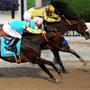 Union Rags w/John Velazquez up beat Paynter w/Mike Smith up to win the 144th Running of the Belmont Stakes at Belmont Park on June 9, 2012.<br /> Photo by Chad Harmon