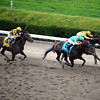 Union Rags w/John Velazquez up win the 144th Running of the Belmont Stakes at Belmont Park on June 9, 2012 over Paytner w/Mike Smith up finishing second and Atigun w/Julien Leparoux up finishing third.<br /> Photo by Chad Harmon