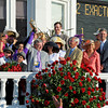 Caption:   PRES: Doug O'Neill (yellow cap), Mario Gutierrez jockey, Paul and Zilla Reddam owners, and Gov. Steve and Jane Beshear<br /> I'll Have Another with Mario Gutierrez up wins the Kentucky Derby presented by Yum<br /> at Churchill Downs near Louisville, Ky. on May 5, 2012.<br /> DErby1  image<br /> PHoto by Alex M. Eberha170rdt