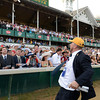 Caption:  trainer Doug O'Neill whoops it up after winning the Derby<br /> I'll Have Another with Mario Gutierrez up wins the Kentucky Derby presented by Yum<br /> at Churchill Downs near Louisville, Ky. on May 5, 2012.<br /> DErby4  image868<br /> PHoto by Anne M. Eberhardt