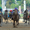 I'll Have Another (center), Mario Gutierrez up, wins the 138th Kentucky Derby<br /> © 2012 Rick Samuels/The Blood-Horse