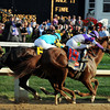 I'll Have Another passes Bodemeister<br /> Photo by Dave Harmon.