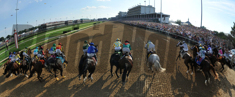 And They're Off in Kentucky Derby 138.<br /> Photo by Courtney V. Bearse.
