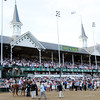Kentucky Derby 138 winner I'll Have Another under the twin spires.<br /> Photo by Dave Harmon.
