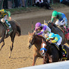 Kentucky Derby 138 final stretch run. I'll Have Another catches up to Bodemeister.<br /> Photo by Crawford Ifland.