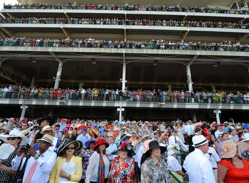 Record Derby crowd...<br /> © 2012 Rick Samuels/The Blood-Horse